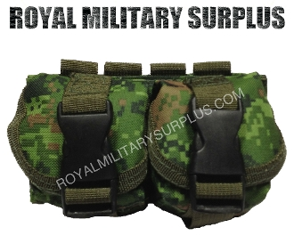 Canadian Digital Dual Grenade Pouch - CADPAT Temperate Woodland