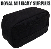 Army Military support pouch molle - Black Camouflage