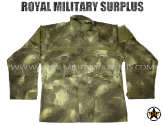 Army Military Combat Shirt - A-TACS AU Camouflage Desert Arid Pattern