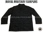 Army Military combat shirt - Black Camouflage