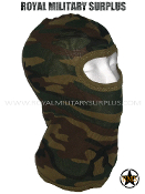 US Army Balaclava Hood Face Mask - US Woodland Camouflage M81 Pattern