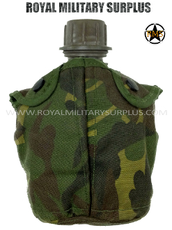 UK British Army Water Canteen - DPM Woodland Disruptive Camouflage