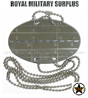 swiss Army Military dog tag - steel chain