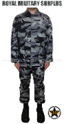City Tactical Military Combat Uniform - Dark Urban Camouflage Tactical Pattern