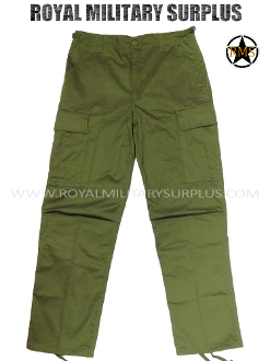 Army Military bdu combat pants - OD Green Camouflage