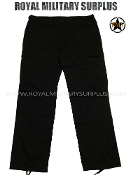 Army Military combat Pants trousers - Black Camouflage