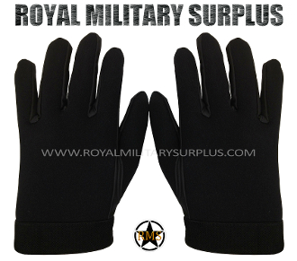 Army Military tactical gloves commando - Black Camouflage