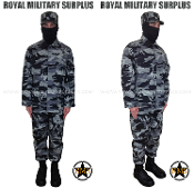 City Tactical Military Recon Kit Uniform - Dark Urban Camouflage Tactical Pattern