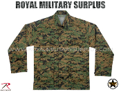 US Marines Digital Woodland Combat Shirt - MARPAT Camouflage Woodland Pattern