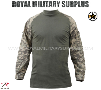 US Army Military Digital Tactical Combat Shirt - ACU Camouflage Universal Pattern