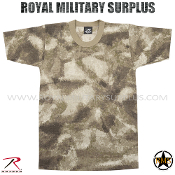 Army Military Tactical Concealment T-Shirt - A-TACS AU Camouflage Desert Arid Pattern