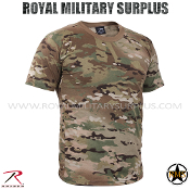 Military Army T-Shirt - MultiCam Camouflage Multi-environment Pattern