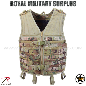 Military Army Tactical vest MOLLE - MultiCam Camouflage Multi-environment Pattern