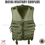 Army Military tactical vest modular molle - OD Green Camouflage