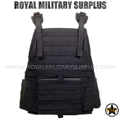 Army Military tactical vest plate carrier - Black Camouflage