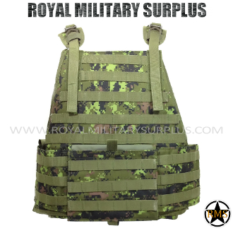 Canadian Digital Tactical Vest Plate Carrier MOLLE - CADPAT Temperate Woodland