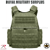 Army Military tactical vest plate carrier molle - OD Green Camouflage