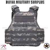 US Army Military Digital tactical vest plate carrier - ACU Camouflage Universal Pattern