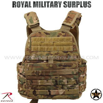Military Army Tactical vest plate carrier MOLLE - MultiCam Camouflage Multi-environment Pattern