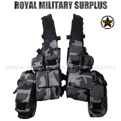 City Tactical Military Tactical Vest Rhodesian - Dark Urban Camouflage Tactical Pattern