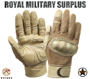 Army Military Tactical Gloves Hard Knuckles - Coyote Camouflage Desert Arid Pattern