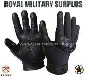 Army Military tactical gloves hard knuckles - Black Camouflage