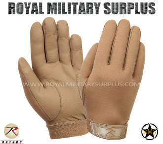 Army Military Tactical Gloves Commando - Coyote Camouflage Desert Arid Pattern