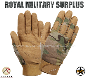Military Army Tactical Gloves Combat Warrior - MultiCam Camouflage Multi-environment Pattern