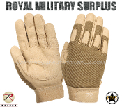 Army Military Tactical Gloves Combat Warrior - Coyote Camouflage Desert Arid Pattern