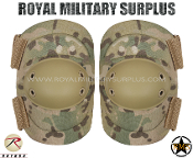 Military Army Elbow Pads Protection - MultiCam Camouflage Multi-environment Pattern