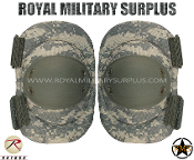 US Army Military Digital Elbow Pads Protection - ACU Camouflage Universal Pattern
