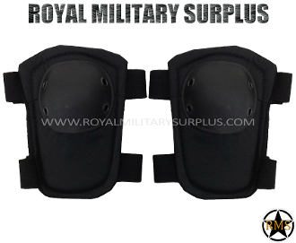 Army Military elbow pads protection - Black Camouflage