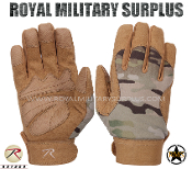 Military Army Tactical Mechanics Gloves - MultiCam Camouflage Multi-environment Pattern