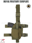 Army Military drop leg pistol holster - OD Green Camouflage