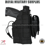 Army Military Pistol Holster molle - Black Camouflage