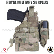 Military Army Pistol Holster MOLLE - MultiCam Camouflage Multi-environment Pattern