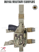 Military Army Drop Leg Pistol Holster - MultiCam Camouflage Multi-environment Pattern