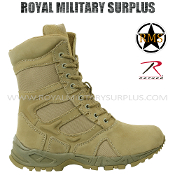 Army Military boots tactical commando - Desert Tan Camouflage Arid Pattern