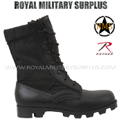 Army Military jungle boots - Black Camouflage