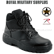 Army Military mountaineer boots - Black Camouflage
