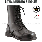 Army Military GI Boots - Black Camouflage