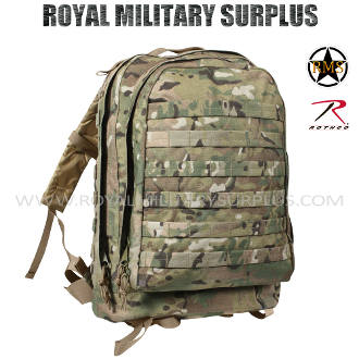 Military Army Backpack 3 Day Assault - MultiCam Camouflage Multi-environment Pattern