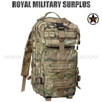 Military Army Backpack Tactical Assault - MultiCam Camouflage Multi-environment Pattern