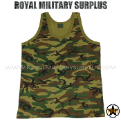 US Army Tank Top - US Woodland Camouflage M81 Pattern