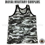 City Tactical Military Tank Top - Urban Camouflage Tactical Pattern
