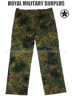 German Army Military Combat Pants - Flecktarn Camouflage Bundeswehr woodland
