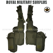 Military Army Tactical Vest Rhodesian - OD GREEN Olive Drab