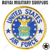 Patch - Round Emblema - US Air Force (White/Blue/Gold)