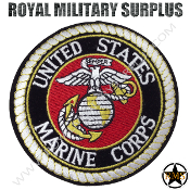 Patch - Round Emblema - US Marine Corps (White/Black/Red)