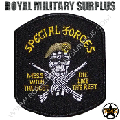 Patch - Military Emblema - Special Forces (Skull/Black)